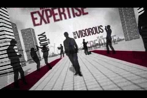 人物剪影商业贸易企业片头,商业视频素材影视模板