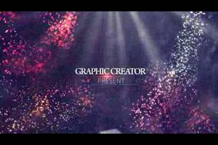 多彩绚丽缤纷粒子飞舞影像展示,粒子视频素材影视模板