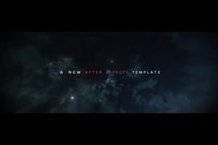 宇宙星云穿越文字标题展现,标题视频素材影视模板