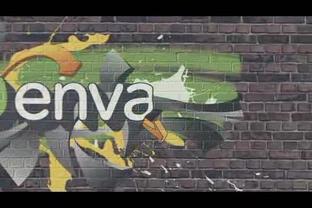 时尚多彩墙体涂鸦logo演绎,涂鸦,logo视频素材影视模板
