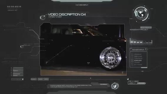 科技全息信息界面,科技视频素材影视模板