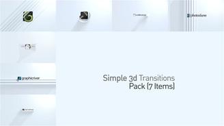 简洁优雅3d立体旋转百叶窗logo演绎,旋转,简洁视频素材影视模板
