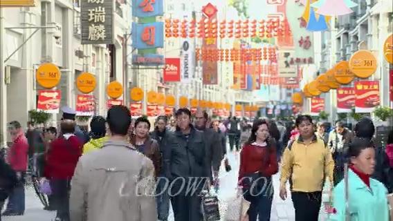 广州城市快速人流生活节奏