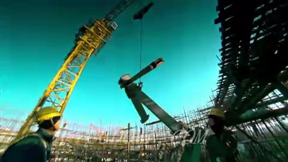 一组建筑,电焊,施工,钢结构,城市建设