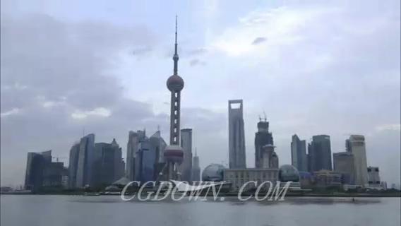 上海外滩东方明珠延时拍摄,上海