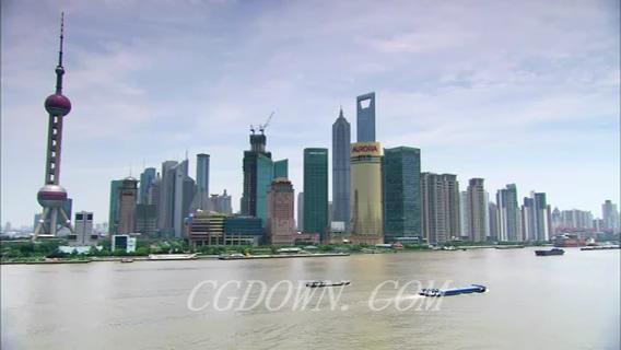 上海外滩东方明珠城市,上海