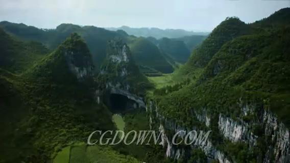 桂林山峦延时