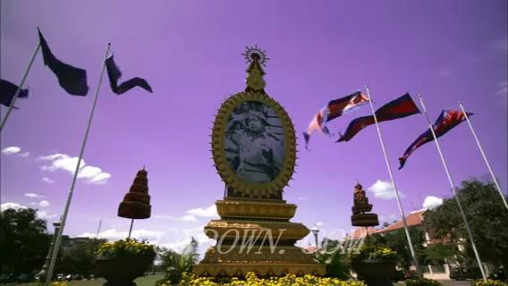 柬埔寨城市风光