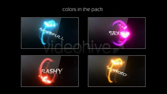 粒子,旋转,文字,片头,光线,缠绕,四种,视频素材