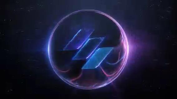 能量球圆环科技logo演绎,能量 logo视频素材影视模板