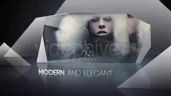 三角符号猪蹄时尚服饰展示片头,服饰视频素材影视模板