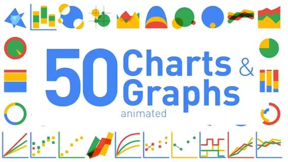 50种可调节数据财务报表扁平化动画,财务,报表视频素材影视模板