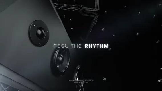 重低音音响音乐活动片头,音响,音乐视频素材影视模板