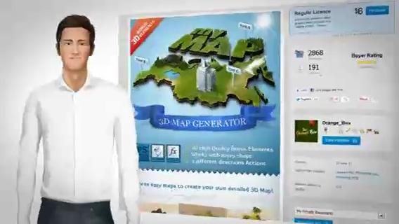 3d人物演示你的企业业务产品,介绍,人物视频素材影视模板