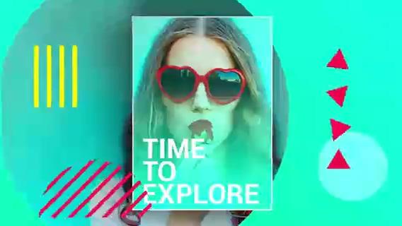 时尚多彩创意宣传,时尚,多彩视频素材影视模板