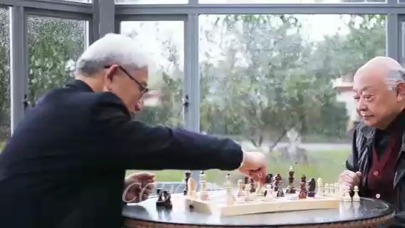 一组老人消遣生活方式,老人,下棋,摄影,看报