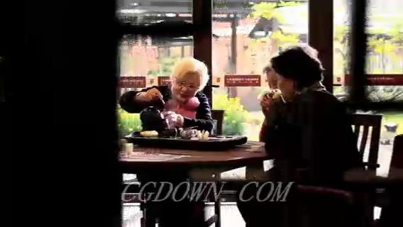 老人,品茶,喝茶,退休,消遣