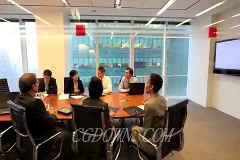 一组商务洽谈握手合作视频素材