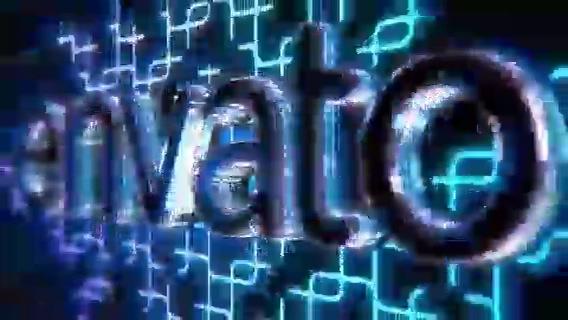 动感科技穿越矩阵科幻电竞logo视频素材影视模板