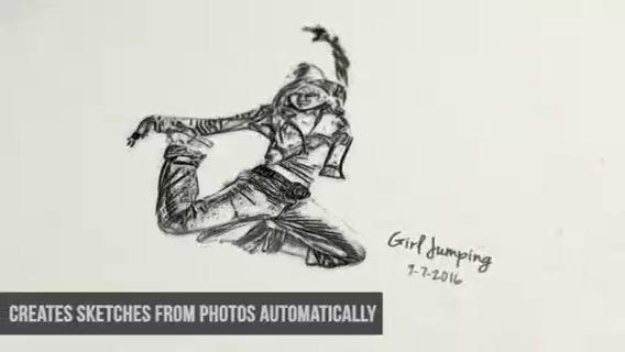 绘画素描效果影像模板,素描视频素材影视模板