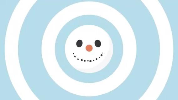 时尚mg动画风格动漫简洁圣诞片头,圣诞视频素材