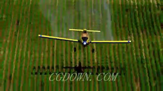 飞机低空飞行喷洒农药