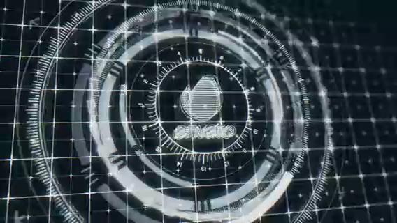 多层旋转圆环科技logo演绎,科技,logo视频素材影视模板