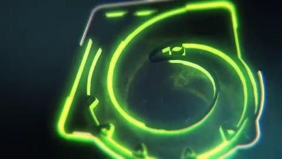 缠绕,霓虹灯,logo,演绎,大气,光线,时尚,粒子,视频素材