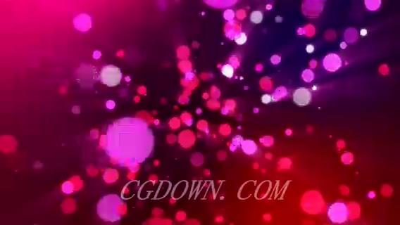 无缝循环红色闪耀粒子光芒,粒子,无缝循环
