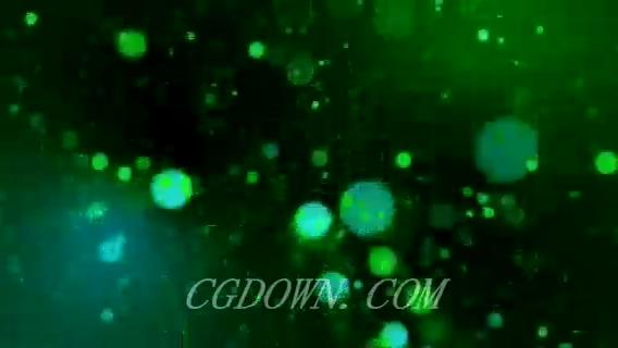 无缝循环绿色闪耀粒子光芒,粒子,无缝循环