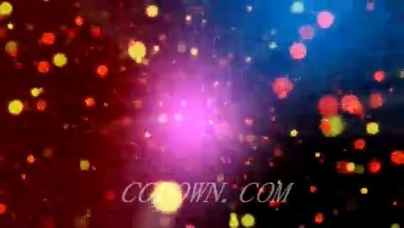 无缝循环多彩闪耀粒子光芒,粒子,无缝循环
