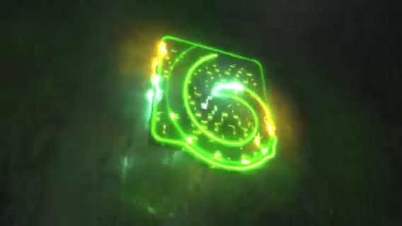 3d能量电流霓虹灯logo演绎,电流,霓虹灯视频素材