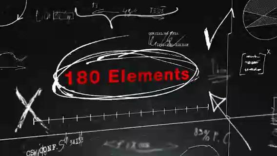 多种黑板教学书写手绘课程标识视频元素
