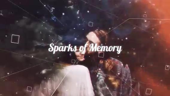 粒子飞舞多层时尚浪漫幻灯影像展示,多层,粒子