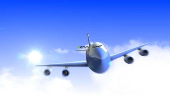 logo,飞机,展示,天空,航空,视频素材