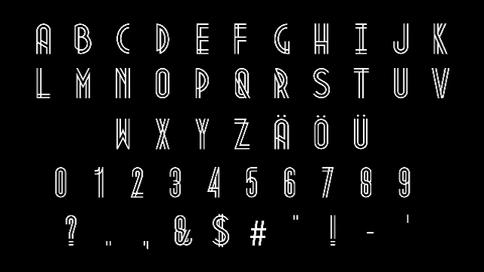 线条生长动画的各种字母数字,字母