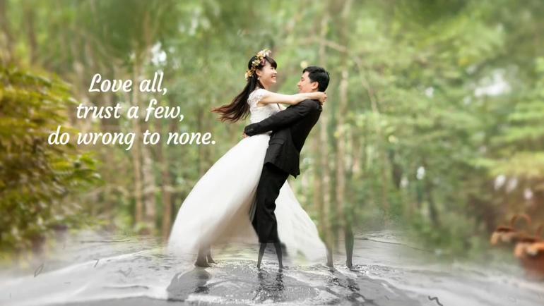 优雅多层光晕婚礼浪漫相册