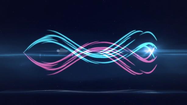 logo,演绎,缠绕,光线,时尚,粒子,科技,视频素材
