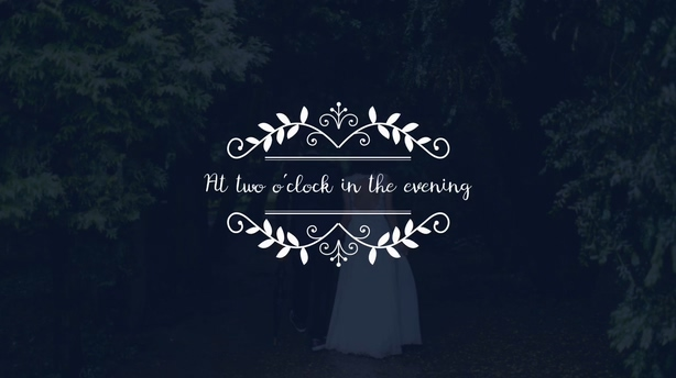 欧式花纹婚礼标题logo