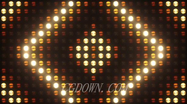 10种美轮美奂闪耀闪烁led灯光矩阵舞会跳舞背景无缝循环,led