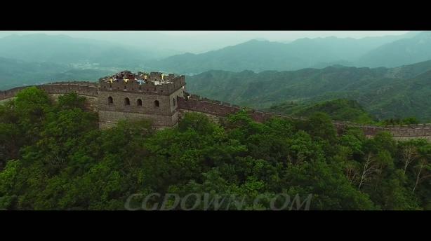 2k航拍中国长城威严景象,航拍,长城