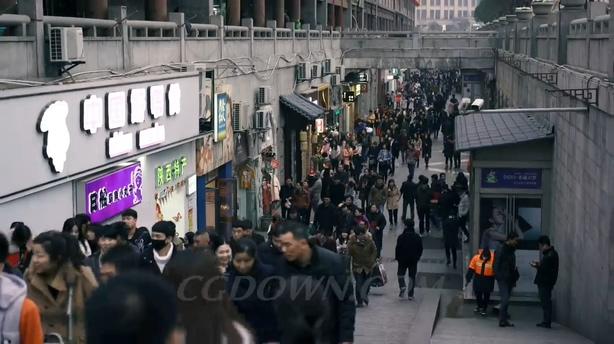 西安城市实拍人文文化小吃旅游,西安