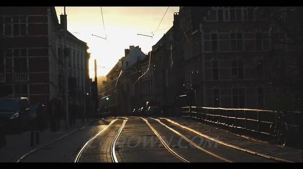 比利时,文化旅游,街道,城市,航拍,风光,视频素材