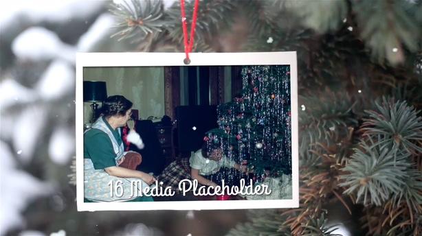 圣诞礼物辉光光晕耀斑记忆相册