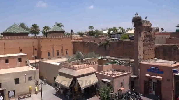 城市,风光,马拉喀什,摩洛哥,超清,拍摄,视频素材
