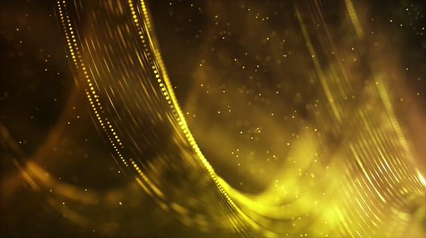 无限循环高贵金色流光溢彩舞台视频背景