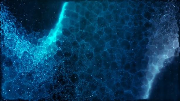 深邃蓝色梦幻旋转深海背景视频