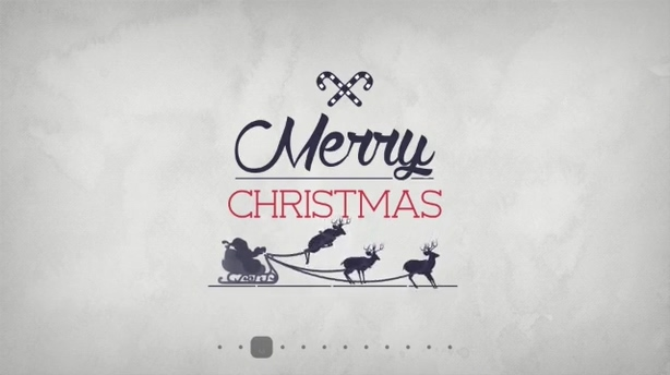 生动活泼动态卡通圣诞节logo演绎,圣诞视频素材