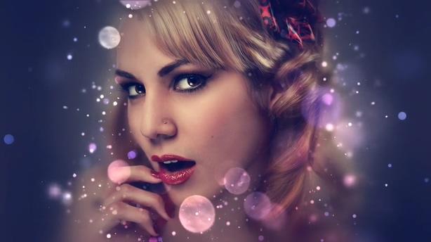 璀璨梦幻时尚温馨浪漫色彩斑斓粒子大片
