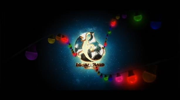 浪漫多彩3d圣诞元素文字片头展示,3d,圣诞